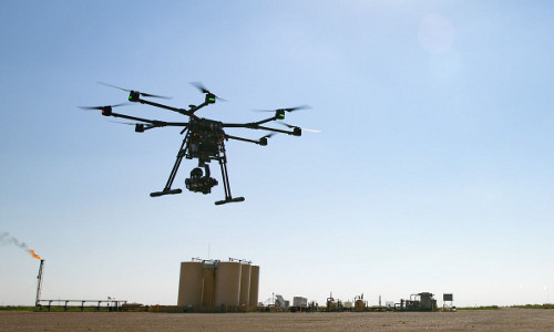 drone carrying a payload